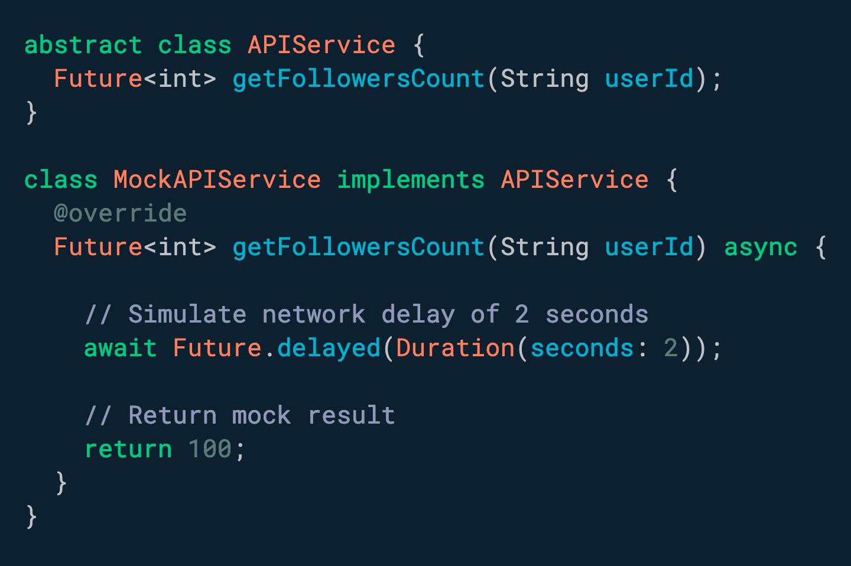 想要在执行某些代码之前强制延迟吗? 使用 Future.delayed