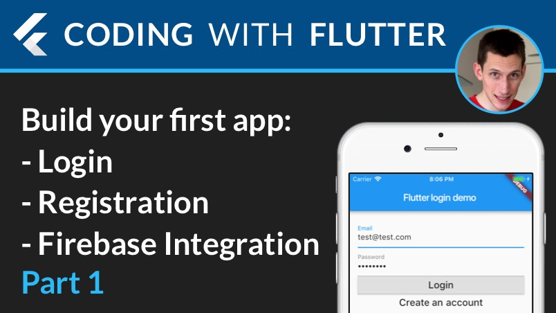 Flutter & Firebase Auth 01 - Intro + Create a new app + Stateless & stateful widgets