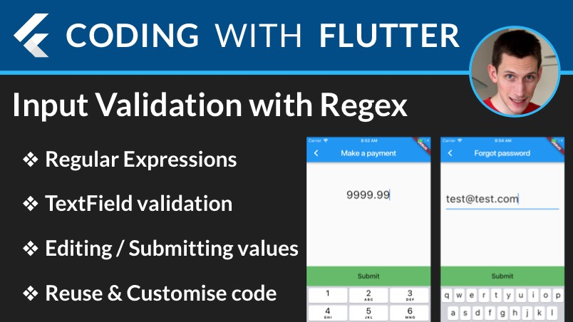 Flutter: Input Validation with RegExp