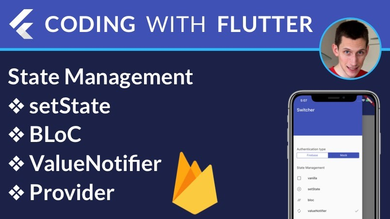 Flutter State Management: setState, BLoC, ValueNotifier, Provider